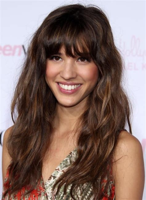 styles long bangs 2013 relaxed long curly hairstyle with bangs hairstyles