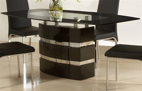 black gloss dining black high gloss finish modern dining table w optional chairs