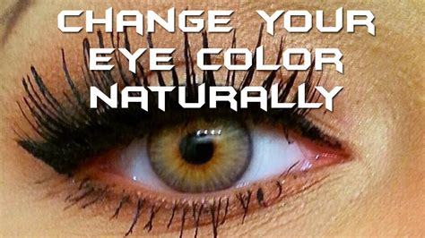 change your eye color to hazel green naturally 2 tips