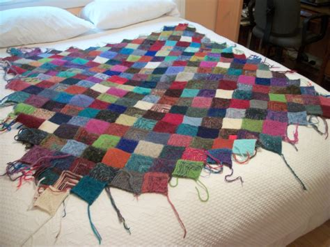 pattern knitted quilt turkey tracks scrappy knitted blanket update louisa