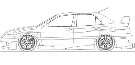 Lu Hid Evolution how to draw evo car