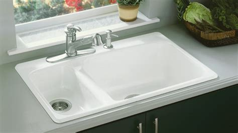 kohler enameled cast iron sink your kitchen sink buying guide
