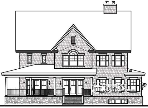 rear view house plans 4 to 5 bedroom traditional design drummond house plans