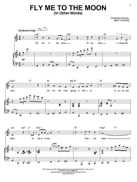 tutorial piano fly me to the moon fly me to the moon in other words sheet music direct
