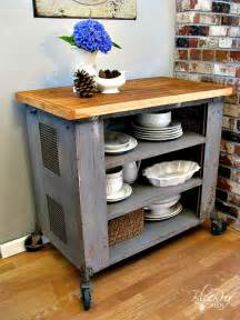 Kitchen Island Diy by Blue Roof Cabin Diy Industrial Kitchen Island Or Cart Or