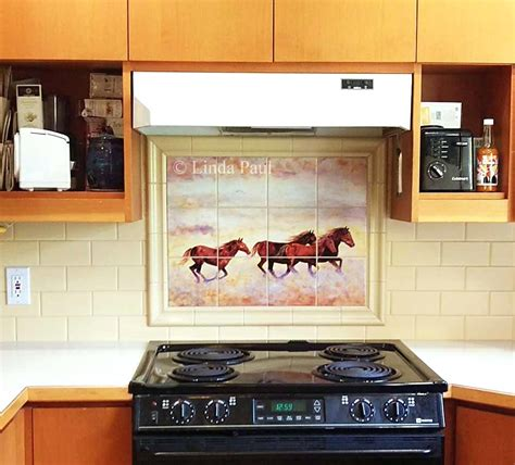 painted tiles for kitchen backsplash renovate painted tiles kitchen backsplash railing