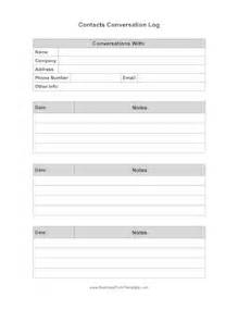 record of telephone conversation template contacts conversation log template
