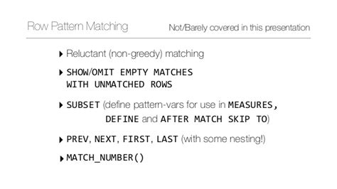 pattern matching greedy row pattern matching in sql 2016