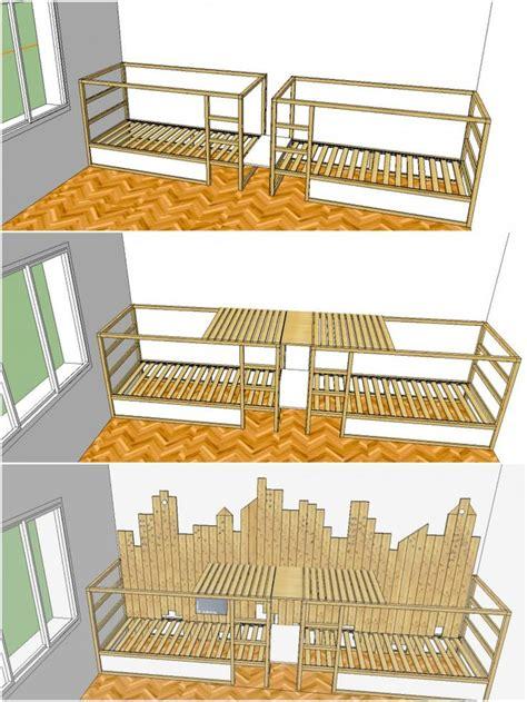 ikea triple bunk bed mommo design ikea kura hack chambre enfant pinterest