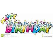 Cartoon Happy Birthday Text Stock Vector  Image 47752835