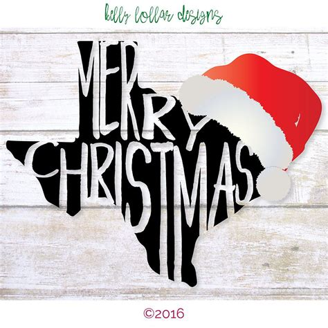 merry christmas texas svg cut files  hat options  piece pack clothes pinterest