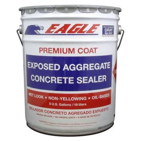 eagle 5 gal gull gray solid color solvent based concrete