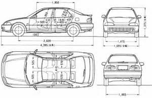 Honda Civic Width Car Blueprints Honda
