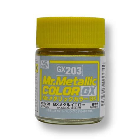 Cat Mr Hobby Gx 203 Gx Metal Yellow ส เมท ลล ก mr metallic color gx203 metal yellow