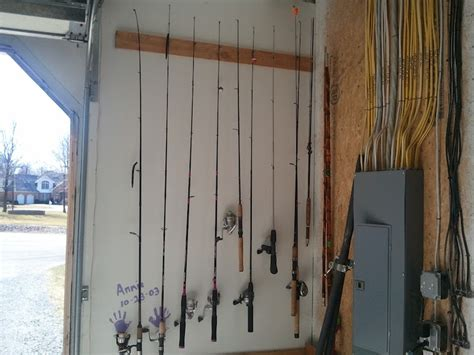 How To Build A Fishing Pole Rack by Fishing Pole Rack Diy