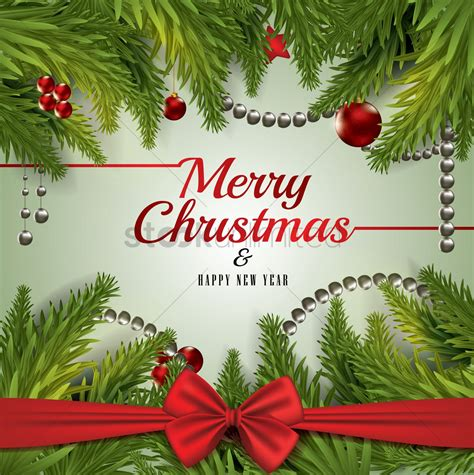 merry christmas  happy  year card design vector image  stockunlimited