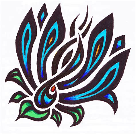 color tribal tattoo designs free tribal and flower designs free