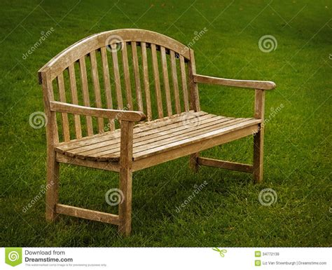 wooden park bench plans wooden park bench royalty free stock images image 34772139