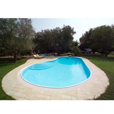 piscina in piscina interrata in pannelli di acciaio a sfioro forma