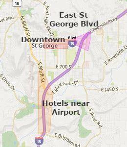 map of st george utah downtown st george hotels st george utah ut