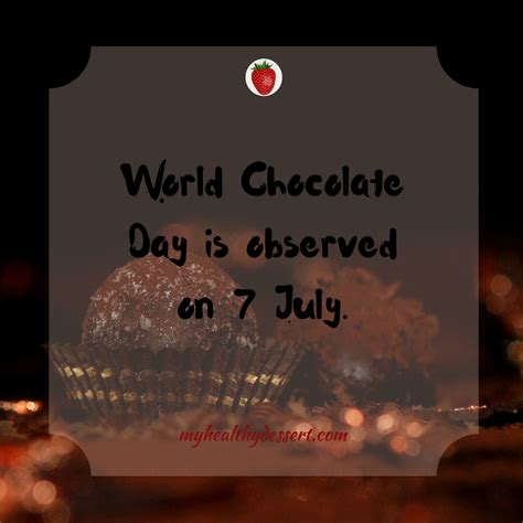 10 Interesting Facts About Chocolate by 10 Interesting Facts About Chocolate My Healthy Dessert