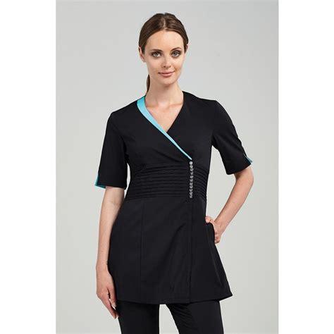 Sefia Tunic the sofia s tunic black with aqua trim or black with plum trim na225