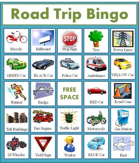 printable road trip bingo road trip bingo cing pinterest