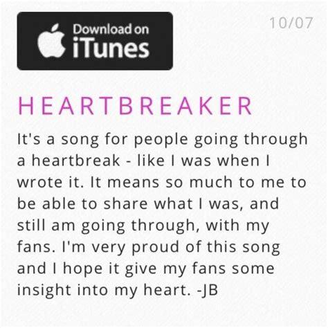 justin bieber lyrics for heartbreaker the real justin bieber s heartbreaker about selena