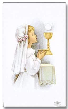 personalized first communion holy cards girl 25001