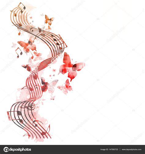 imagenes navideñas vectores colores de fondo con notas musicales vector de stock