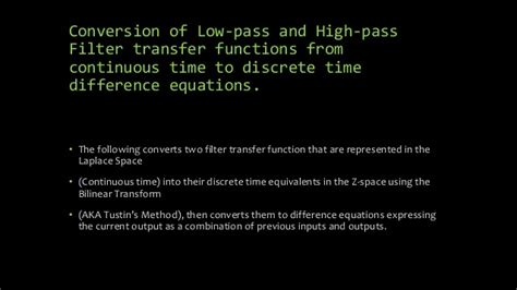 high pass filter laplace transfer function frequency transformation
