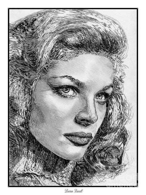 Laurens J Drawings by Bacall Drawing By J Mccombie