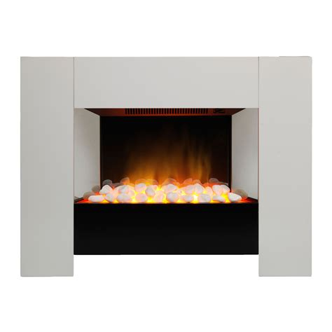 Bq Fireplace by Dimplex Chesil White Remote Electric