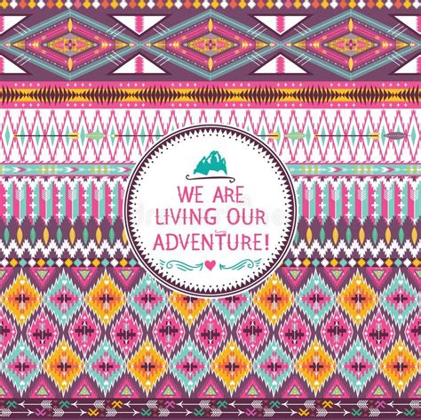 pattern photography quotes hipster seamless tribal pattern with geometric elements