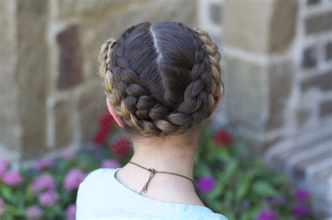 short hair gymnastics style easy fold up braids back to school hairstyles cute