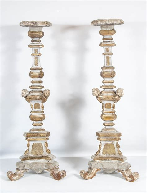 Floor Candlesticks by 18th C Italian Floor Candlesticks Pair Omero Home