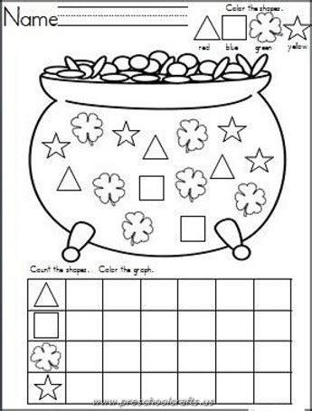 kindergarten activities st patrick s day kindergarten st patrick day worksheets preschool crafts