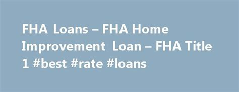 17 best ideas about fha loan on home budget