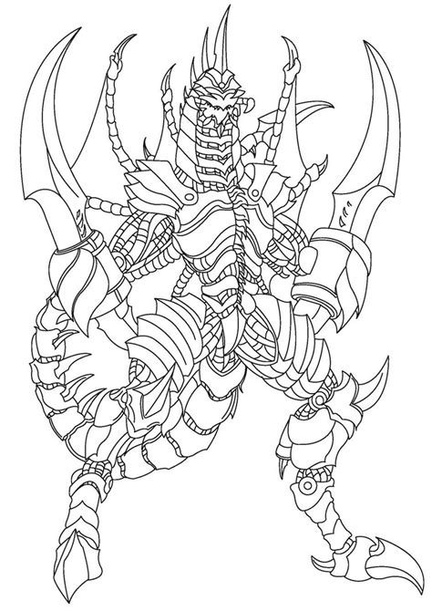 burning godzilla coloring pages gigan draw by capzhrl on deviantart