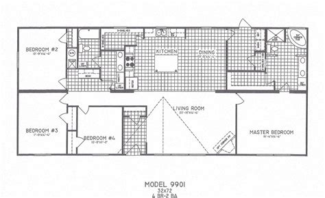 4 bedroom mobile home floor plans 4 bedroom floor plans
