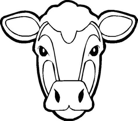 coloring page cow head sketch of steer skull coloring pages