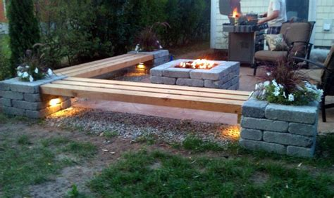 hull patio pergola propane pit custom benches