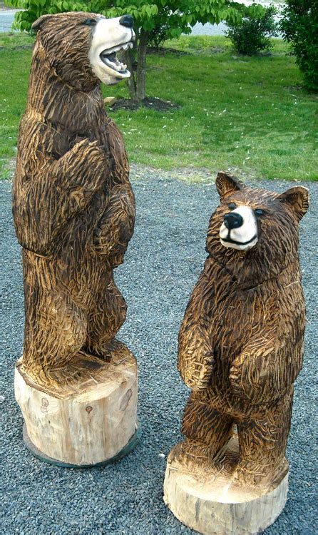 artisans   valley custom chainsaw carvings  bob eigenrach feature page wildlife