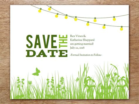 Birthday Save The Date Templates garden save the date template