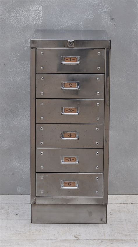 6 Drawer File Cabinet by Vintage Industrial Steel Filing Cabinet 6 Drawer