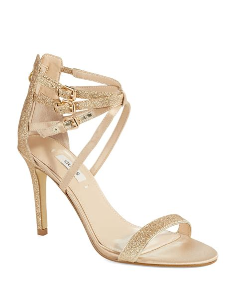 guess gold high heels guess laellaly 2 heels in gold lyst