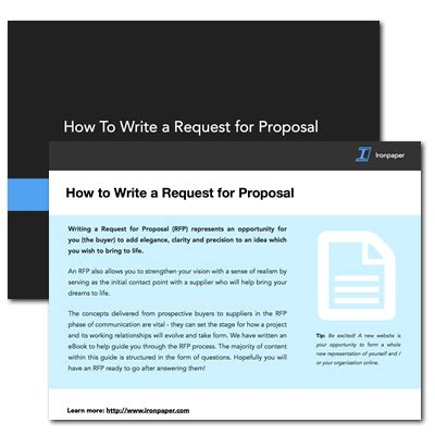 website design proposal request how to write a website design request for proposal