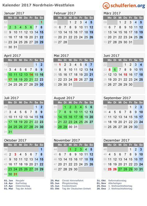 wann sind die herbstferien in nrw kalender 2017 ferien nordrhein westfalen feiertage