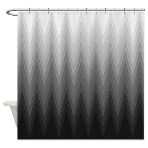 black white gray curtains ombre black to grey chevron pattern shower curtain by v ink