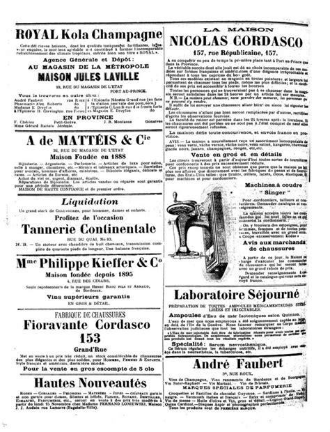 Haiti Birth Records Le Matin Port Au Prince 27 November 1909 Page 4 Shady Haitien